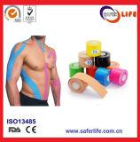 2017 Hete Katoenen van de Kleur van de Verkoop Saferlife Elastische Band 5cm X 5m van de Kinesiologie voor de Therapie van de Spier van Sporten
