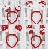 Venda roja del pelo de la venda de la cintura de la venda de la mano de la hebilla de la pista del tocado del oso de Santa del muñeco de nieve de Santa de las decoraciones de la Navidad