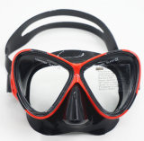 Equipo del buceo con escafandra, juego de salto para la máscara, tubo respirador, aletas