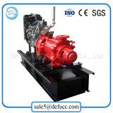 Bomba de incêndio horizontal de alta pressão do motor Diesel de vários estágios