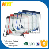 Clear Vinyl See Through Drawstring Backpack Bag