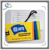 Cartão irregular personalizado do PVC do projeto