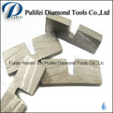 화강암 대리석 돌을%s 쪼개지는 절단 다이아몬드 세그먼트는 구체 도와를 강화한다