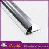 Perfiles de aluminio anodizados del ajuste de la esquina del azulejo de la escalera en color Polished
