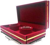 Установленные коробки случая подарка хранения ювелирных изделий вахты Bangle браслета бархата 100% красные люкс