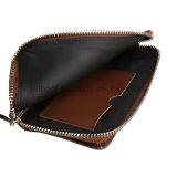 Étui en cuir avec porte-monnaie Zip pour iPhone / Samsung