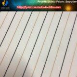 /Blanco tela teñida hilado negro de la raya para la ropa, materia textil tejida poliester (S27.86)