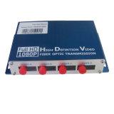 4 1080P portuarios DVI al suplemento de la fibra