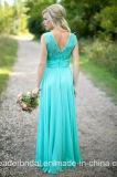Безрукавный платье вечера Lb17101 шнурка империи мантии партии Bridesmaid