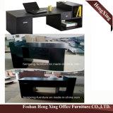 Tabella laterale nera Hx-Nt3093 con la scrivania esecutiva dei 3 cassetti