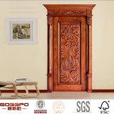 Stanza di mogano dell'appartamento che intaglia portello interno di legno (GSP2-008)
