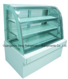 Изогнутый холодильник индикации торта стеклянный с Ce