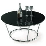 現代ガラスまたは大理石のコーヒーテーブルの居間の家具