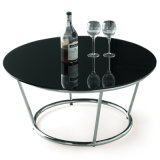 Mobília moderna do vidro/a de mármore da mesa de centro da sala de visitas