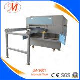 Máquina de gravura aprovada do laser do GV com a tabela de trabalho móvel nivelada (JM-960T-MT)