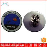 Divisa de encargo del Pin del metal con la impresión y el epóxido