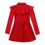 Горячее пальто весны сбывания и ветра маленьких девочек осени красное