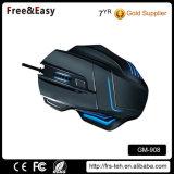 Souris de câble ergonomique de haute résolution du jeu 5500dpi 7D de modèle neuf