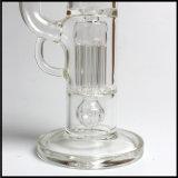 標準的な主権のガラス柱のPerc Shishaの厚い煙るガラス配水管の水ぎせる手卸し売り吹かれた陶酔するようなタバコのバブラー