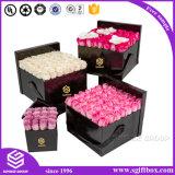 Handgemachtes glattes Luxuxpapier, das quadratischen Blumen-Kasten verpackt