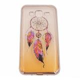 Гальванизируйте цвет клея 2 крася прозрачное аргументы за Huawei P8/LG G5/HTC M9 сотового телефона Mandala TPU пера (XSDD-076)
