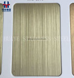 Strato colorato dell'acciaio inossidabile della linea sottile dell'oro di piastra metallica per la decorazione interna