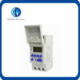 Interruptor programable del temporizador de la C.C. 12V 16A de Thc15 Digitaces LCD
