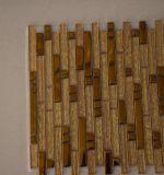 Mosaico caldo di vetro e del metallo dell'oro della striscia di vendita per la decorazione della parete