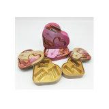 مصنع مباشرة قلب شكل شوكولاطة صندوق قصدير مادة