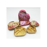 Fábrica directamente forma de corazón caja de chocolate Material de estaño