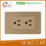 2016 socket de pared caliente del socket de potencia de la serie de la venta 6pin