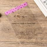 Bolso plástico transparente del regalo de Customzied BOPP con el bolso claro transparente del violoncelo del rectángulo del bloque principal/LDPE con auto-adhesivo