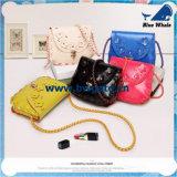 Bw1-079女性のCrossbodyの本革袋のインドネシアのろうけつ染めのショルダー・バッグ