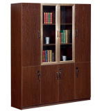 Bibliothèque en bois de bureau de meubles d'étalage moderne