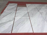 Mattonelle di marmo bianche naturali della lastra per la decorazione di progetto