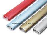 Main courante en aluminium personnalisée d'escalier d'enduit de poudre