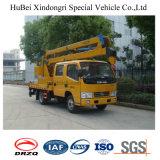 Camion à plate-forme aérienne Dongfeng 14m à 3 bras avec grue