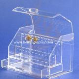Coffret d'étalage clair de bijou en verre organique