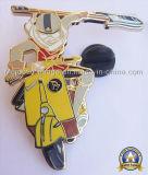 아연은 정지한다 던지기 금 도금 접어젖힌 옷깃 핀 (Hz 1001 P086)를