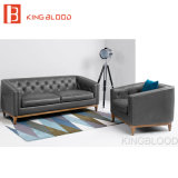 새로운 디자인 거실 회색 최고 소파 고정되는 가죽 소파 판매