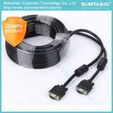 Varón del OEM HD 15pins al cable masculino del VGA para el ordenador