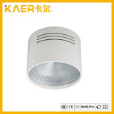 Oberfläche eingehangenes PFEILER unten Licht, 6inch 18W weißes Gehäuse-runde Art LED beleuchten unten