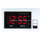 Reloj de tiempo electrónico teledirigido grande del modo de 12 horas del LED Digital