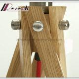 فريدة تصميم 5 ساق طبيعيّ خشبيّة طاولة إنارة