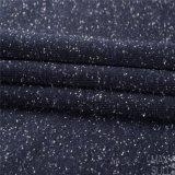Lãs da flor composta e telas de algodão para o outono ou o inverno no azul de marinha