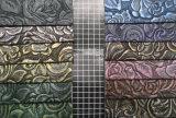 Couro sintético gravado popular do teste padrão para sacos, sapatas, decoração (HS-Y03)