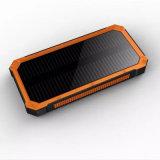 Batería solar de la energía solar del cargador que acampa 15000mAh con el USB dual de la linterna fuerte