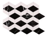 Mozaïek van het Glas van de Steen van de ruit het Donkere Witte Marmeren