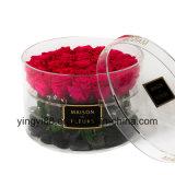 Freier/weißer/Schwarz-Acrylrosen-Kasten-runder Blumen-acrylsauerkasten