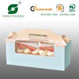 食品等級のアイボリーペーパーカップケーキボックス